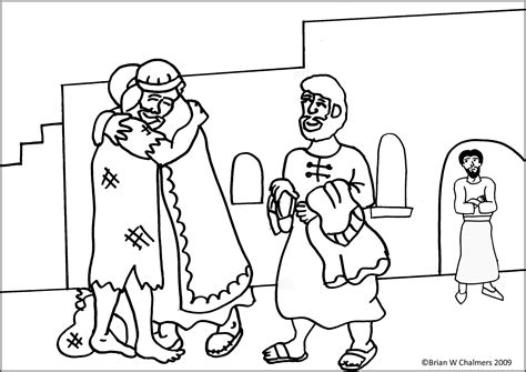The Prodigal Son Flip Chart Ebibleteacher The Prodigal Coloring Pages