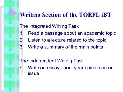 reading section toefl ibt overview of the toefl ibt