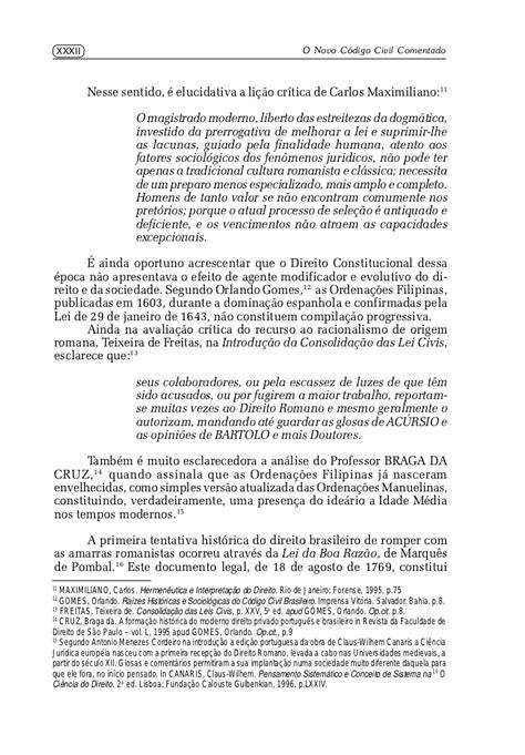 O novo código civil comentado livro i - parte geral - ana