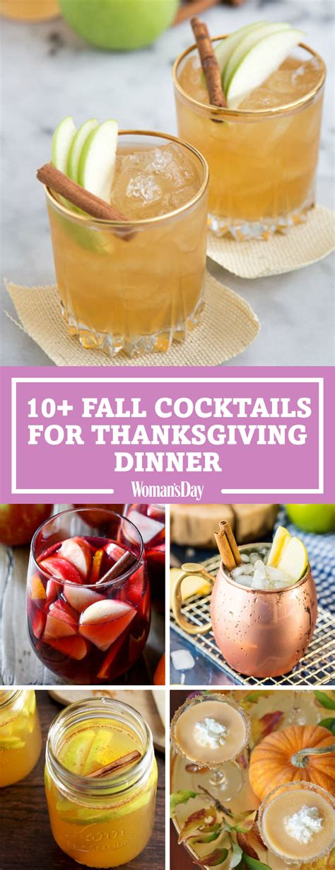 fall cocktails  thanksgiving recipes  easy
