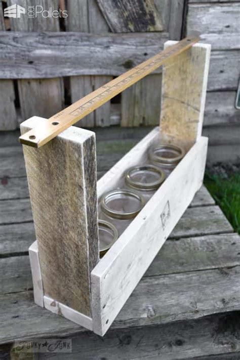 diy pallet wood tool tote  pallets