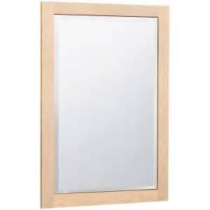 maple bathroom mirror masterbath 32 in l x 20 in w wall mirror in natural