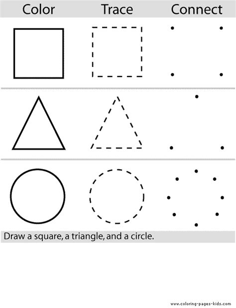 coloring pages with shapes for preschool shape color page education school coloring pages color