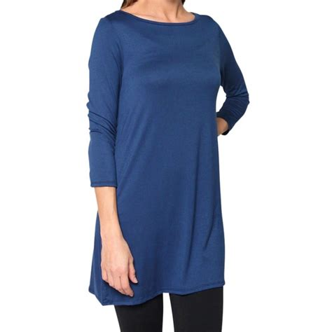 boat neck ladies tops womens dolman top boat neck 3 4 sleeve tunic long tops