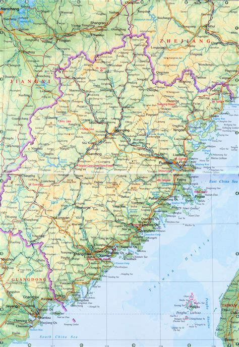province map fujian province map china travel map
