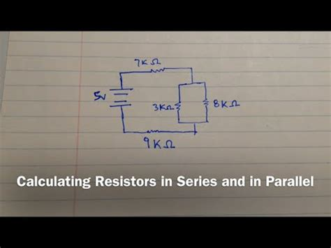 calculate resistors series calculating resistors in series and in parallel