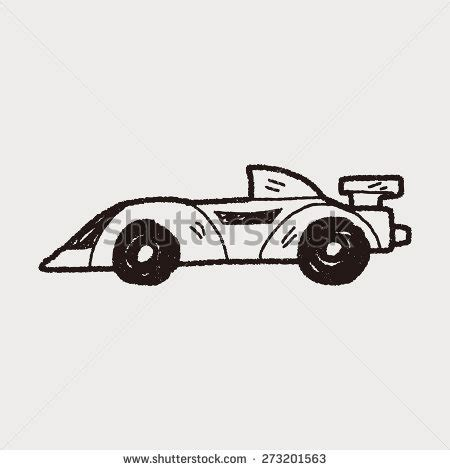 doodle racing indycar symbol silhouette stock vector 95322745