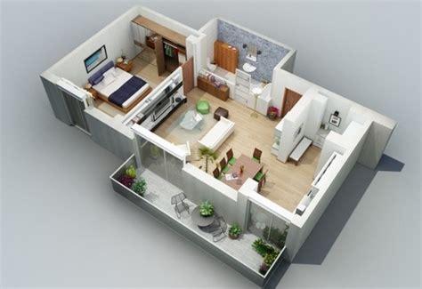 desain kamar kost yang bagus 13 denah 3d apartemen minimalis 2 lantai 3 kamar rumah