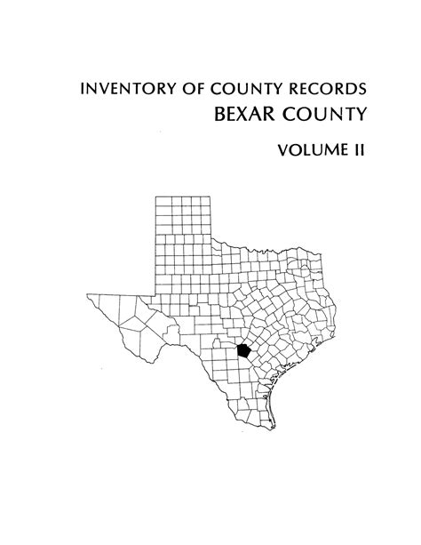 Bexar County District Clerk Search Inventory Of County Records Bexar County Courthouse San Antonio Volume 2