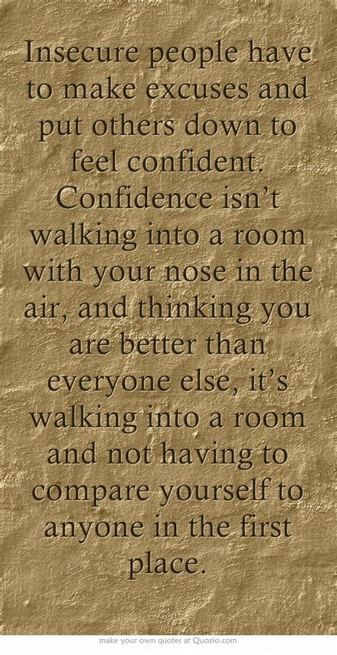 how to walk into a room with confidence insecure to make excuses and put others to feel confident confidence isn t