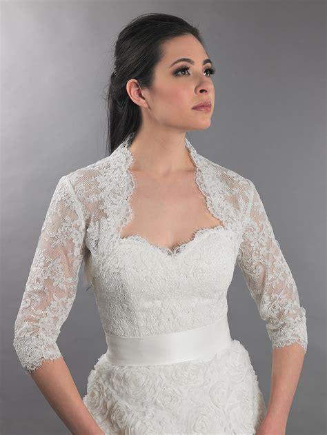 braut bolero ivory 3 4 sleeve ivory bridal alencon lace bolero jacket lace 112
