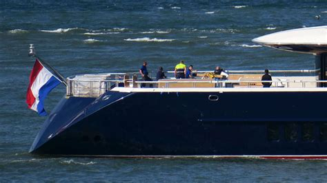 oceancos black pearl spotted  sea trials megayacht news