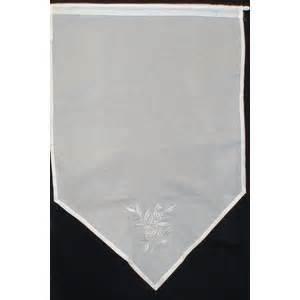 rideau organdi blanc brode textile de comparer