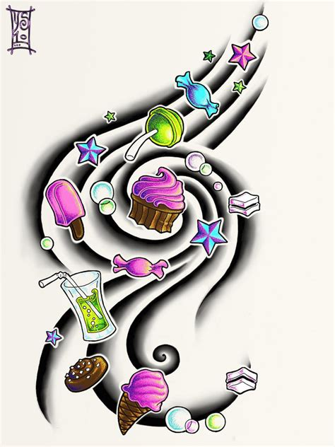 sweets tattoo designs by myandra on deviantart