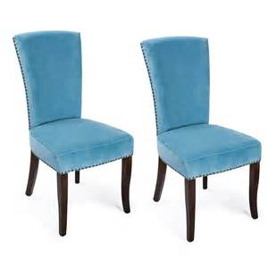 adeco blue velvet living room side chairs dining chair