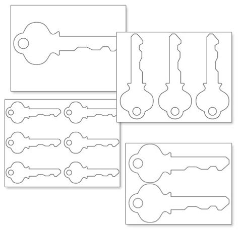 printable key template best photos of key shape template key outline clip art