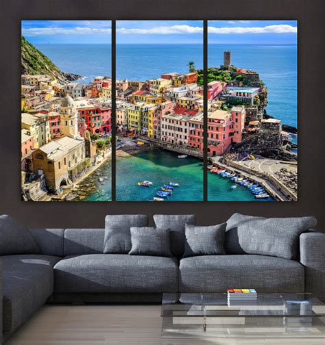 travels through and italy large print books cinque terre italy on canvas beautiful large canvas print