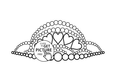 Tiara Coloring Pages With A Variety Of Useful Images Tiara Coloring Page
