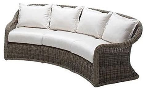 curved outdoor sofa with cushions patio furniture