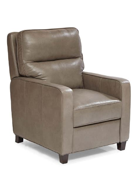 gray leather recliner chair quick ship alameda leather recliner in grey