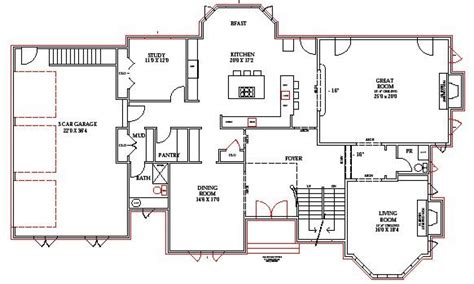 housing blueprints lake home floor plans lake house plans walkout basement