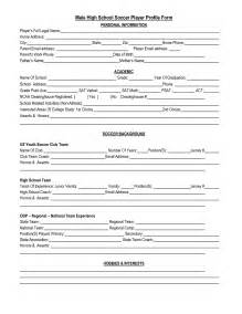 Soccer Player Profile Template by Best Photos Of High School Player Profile Template