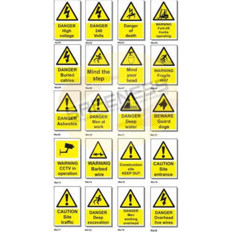 what color are warning signs black or multi colour warning safety signs id 9161972791