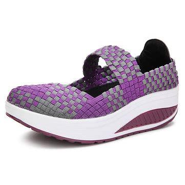Sepatu Casual Satin buy leisure platform shoes slip on knit shake knitting sneakers at banggood