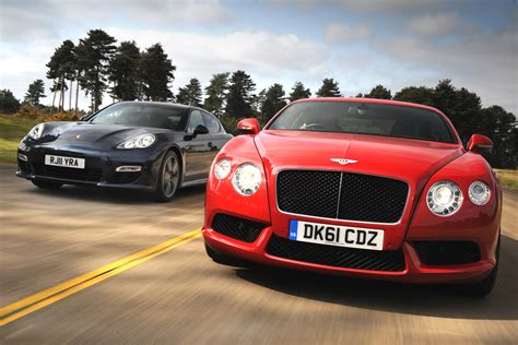 bentley continental gt v8 vs porsche panamera auto express