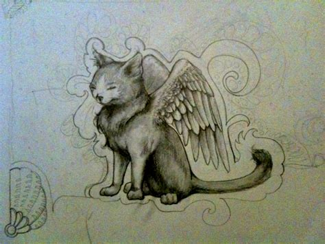 cute anime cat with wings drawings anime wolf with angel wings hot girls wallpaper