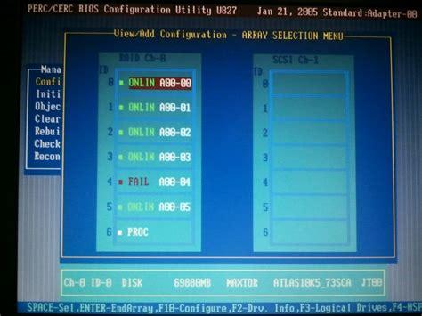 nvram reset dell server hard drive dell perc 4 poweredge 2850 unresolved