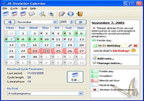 Calendrier Ovulation Calcul T 233 L 233 Charger Jx Calendrier D Ovulation Pour Windows Shareware