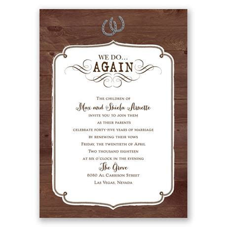 Western Revival Vow Renewal Invitation Invitations By Dawn Vow Renewal Invitations Templates