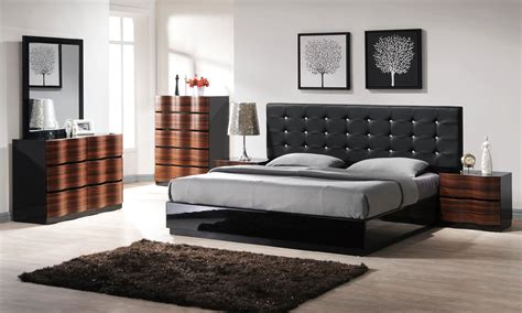modern contemporary bedroom sets with wooden dressers and