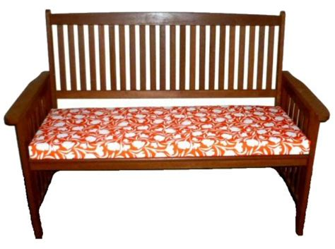 bench cushions made to measure made to measure bench seat pad tulip orange a bentley
