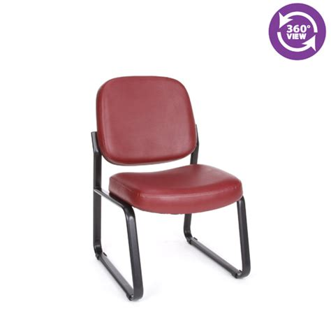 richmond reception chair armless in vinyl fmo 405v