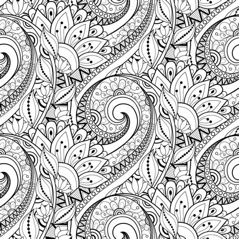 seamless pattern monochrome abstract seamless monochrome floral pattern stock vector