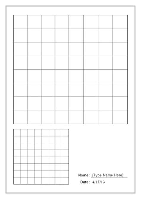 reduce and enlarge grid lines template teacher