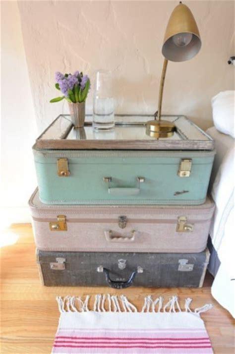 koffer nachttisch diy wohnideen nachttisch aus vintage koffern bauen