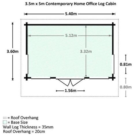 cabin dimensions 3 5 x 5 waltons contemporary home office log cabin what shed