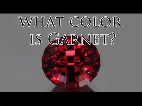 garnet colors what color is garnet