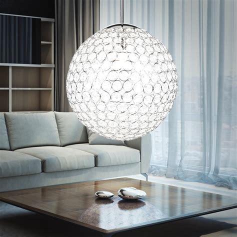 kugelle wohnzimmer design kugel pendel h 228 nge le chrom kristalle rund