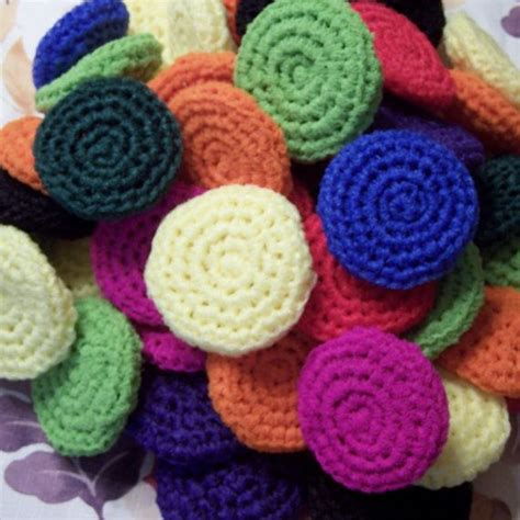 knitted scrubbies netting crocheted scrubbies assorted colors set of three