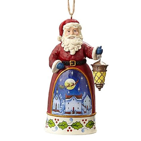 jim shore 174 santa with lantern christmas ornament bed