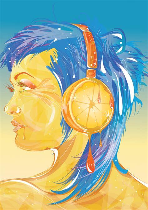 tutorial vector di adobe illustrator create a sparkly female portrait in illustrator