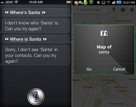 siri on android siri can t find santa claus but android can