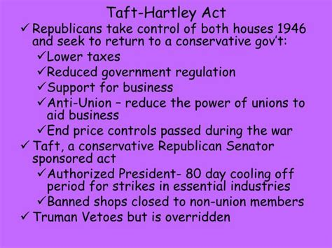 section 14 b of the taft hartley act ppt early cold war powerpoint presentation id 1641810