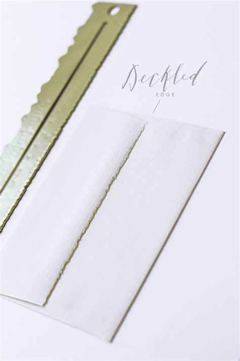 How To Make Deckle Edge Paper - tools of the trade deckled edge ruler besotted