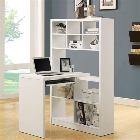 White Corner Desk With Shelves Foter White Corner Desk With Shelves