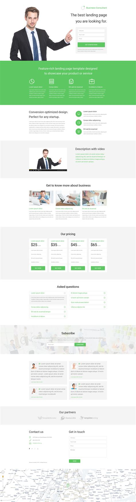 responsive landing page templates business responsive landing page template 53788